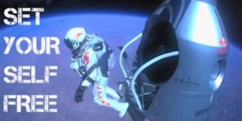Η ελεύθερη πτώση του Baumgartner μέσα από τη δική του ματιά (vid)