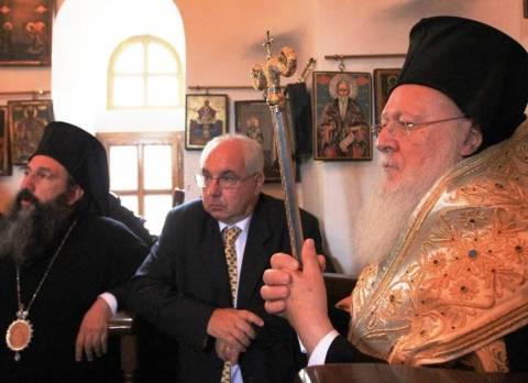Ο Οικουμενικός Πατριάρχης στο αντιπροσωπείο της Μονής Εσφιγμένου