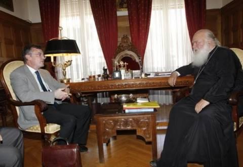 Συνάντηση Γεροντόπουλου με τον Αρχιεπίσκοπο Ιερώνυμο