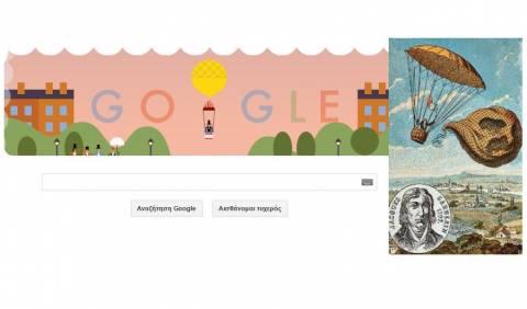 Αντρέ- Ζακ Γκαρνερέν: Η Google τιμάει τον Γάλλο αλεξιπτωτιστή