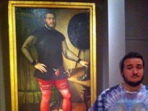Είδε τον εαυτό του σε πίνακα του 16ου αιώνα!