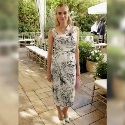 Diane Kruger: Αποθεώνει το ασπρόμαυρο φόρεμα