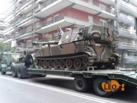 Έκαναν την εμφάνιση τους τα πρώτα μηχανοκίνητα τμήματα του στρατού
