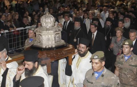 Στην Κύπρο η Τίμια Κάρα του Αποστόλου Ανδρέα (βίντεο)