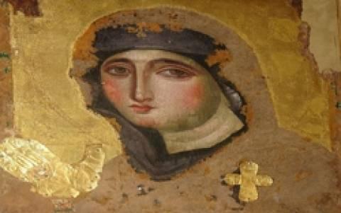 Η μοναδική βυζαντινή εικόνα της Παναγίας Αγιοσορίτισσας