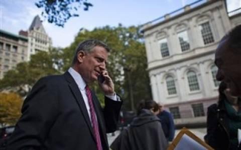 Φαβορί o Μπιλ ντε Μπλάζιο για Δήμαρχος της Νέας Υόρκης
