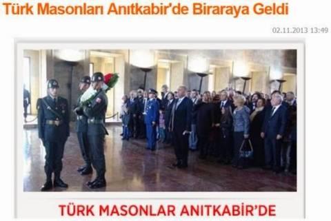 Οι Τούρκοι Μασόνοι απέτισαν φόρο τιμής στο μνημείο του Ατατούρκ