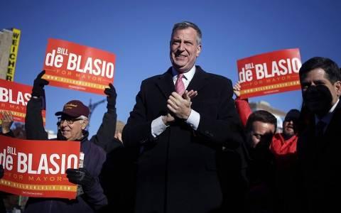 Νέος δήμαρχος της Νέας Υόρκης ο Μπιλ ντε Μπλάζιο