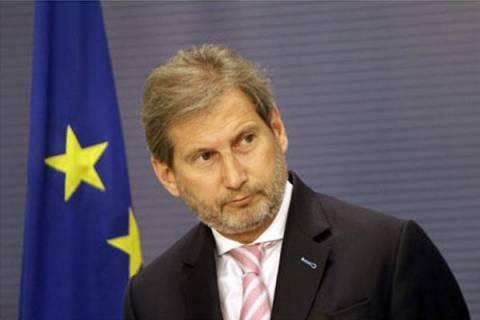 Ο Επίτροπος Χαν επιβλέπει τη χρήση πόρων στις 13 ελληνικές περιφέρειες