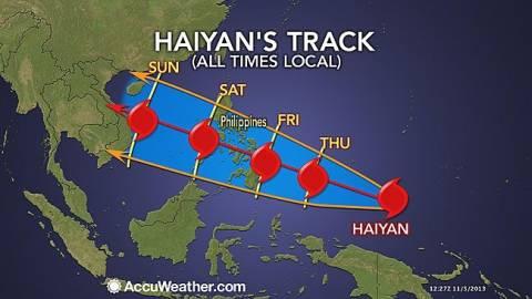 Σαρώνει τις Φιλιππίνες ο πανίσχυρος τυφώνας Χαϊγιάν