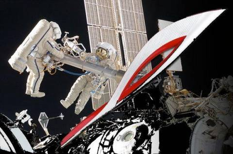 Η Ολυμπιακή δάδα έφτασε στο διάστημα!