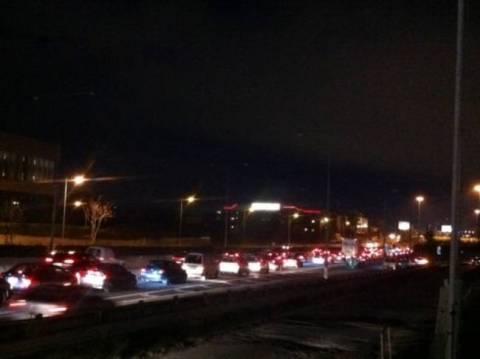 Ουρές χιλιομέτρων στην Εθνική οδό λόγω τροχαίου