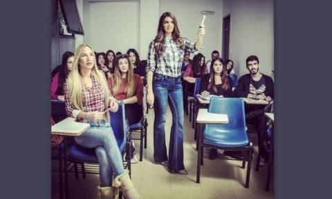 Η Σταματίνα Τσιμτσιλή με τους μαθητές της στην τάξη!