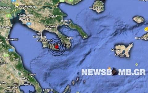 Σεισμός 3,4 Ρίχτερ στη Χαλκιδική
