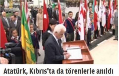 Οι Τουρκοκύπριοι στα Κατεχόμενα τίμησαν τη μνήμη του Ατατούρκ