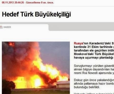 CNNTurk: «Ηταν στόχος η τουρκική πρεσβεία στη Μόσχα»