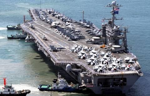 Στις Φιλιππίνες καταπλέει το αεροπλανοφόρο USS Τζορτζ Ουάσιγκτον