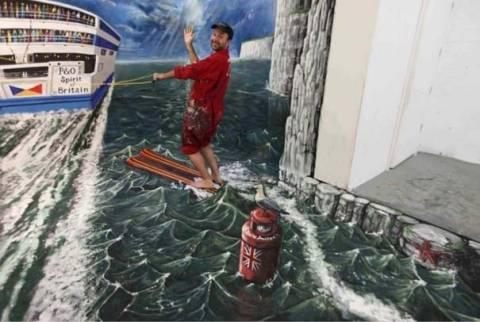 Απίστευτες 3D ζωγραφιές στο δρόμο! (pics)