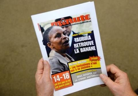 Γαλλικό περιοδικό χαρακτηρίζει πίθηκο την υπουργό Δικαιοσύνης!