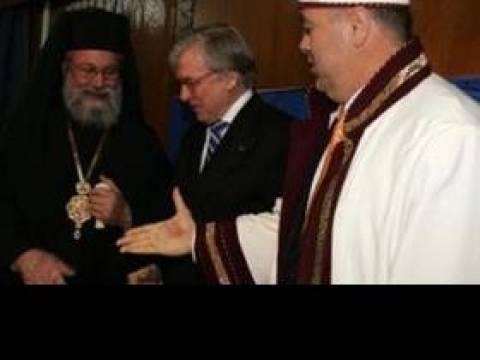 Ο Μουφτής πήγε να πει «χρόνια πολλά» στον Αρχιεπίσκοπο Κύπρου