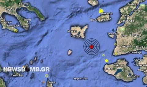 Σεισμός 4,0 Ρίχτερ στο βόρειο Αιγαίο