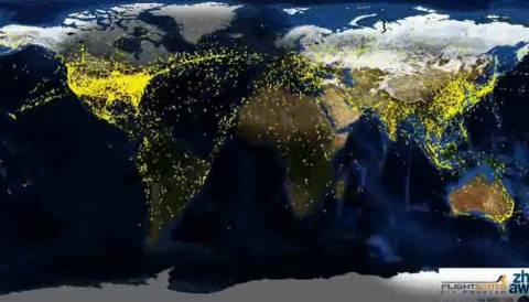 Δείτε όλες τις αεροπορικές πτήσεις που γίνονται μέσα σε 24 ώρες!