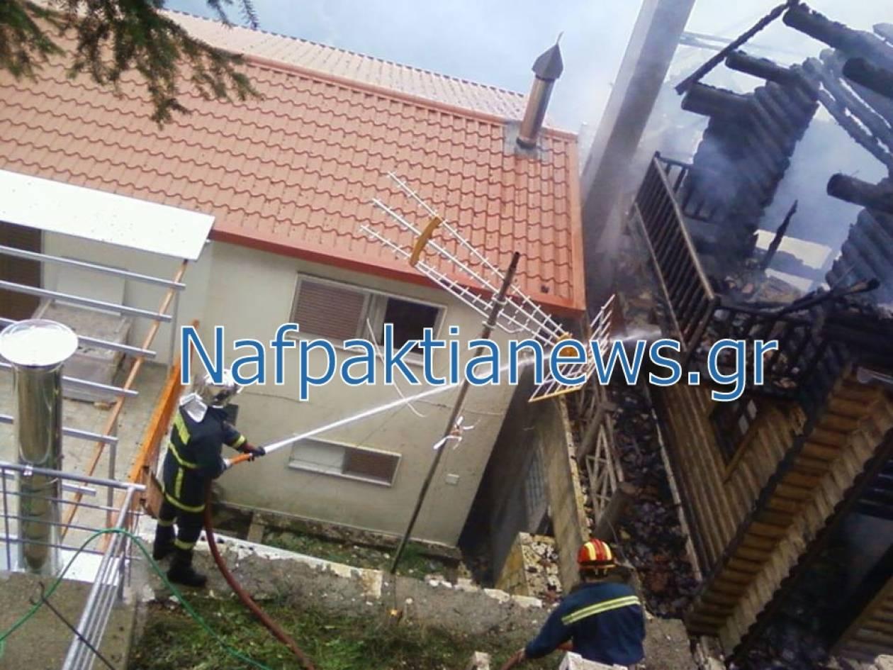 Ναυπακτία: Το σπίτι του στις φλόγες, το αμάξι του στον γκρεμό! (vid)