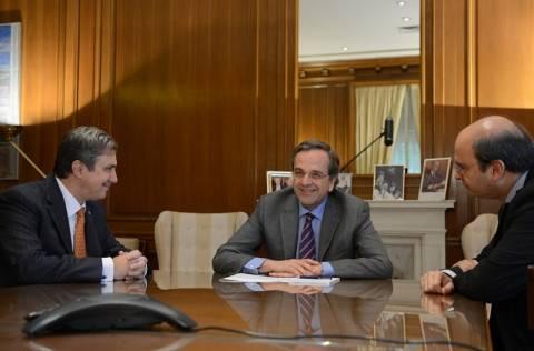 Συνάντηση Σαμαρά με τον πρόεδρο του Ιδρύματος Ωνάση
