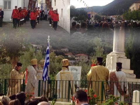 Με λαμπρότητα η περιφορά της Ιερής Εικόνας της Παναγίας Ελώνης