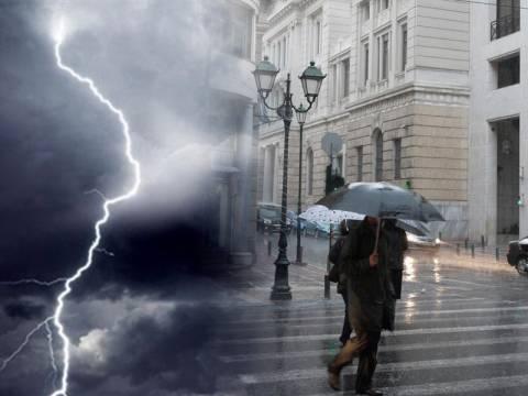 ΠΡΟΣΟΧΗ: Βροχές και καταιγίδες το Σαββατοκύριακο