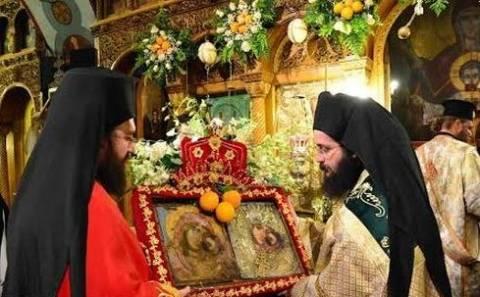 Λιτάνευση της θαυματουργής εικόνας Παναγίας Πορτοκαλούσας
