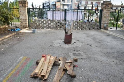 Συμβολικό χτίσιμο της πύλης του Δρομοκαΐτειου (pics+vid)