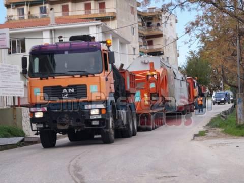 Δείτε: Μεταφορά μετασχηματιστή 200 τόνων μέσα από την Πρέβεζα!