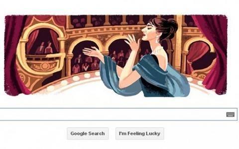 Μαρία Κάλλας: Η Google τιμά τη μεγάλη ελληνίδα ντίβα της όπερας