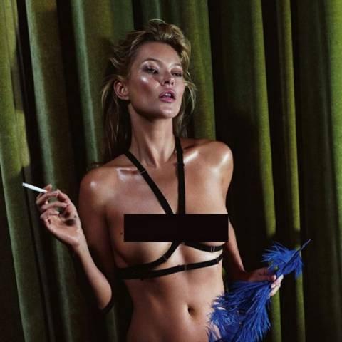 Δείτε την Kate Moss γυμνή στις σελίδες του Playboy!
