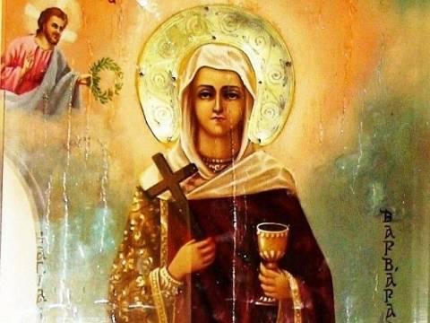 Εορτασμός της Αγίας Βαρβάρας- Θαύματα