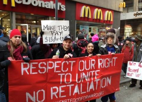 Νέα απεργία των εργαζομένων στα φαστ-φουντ