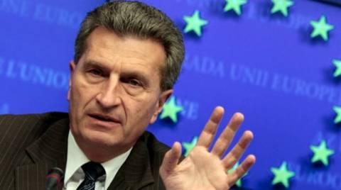 Έτινγκερ:Η Ελλάδα μπορεί να καταστεί ενεργειακός κόμβος για την Ευρώπη