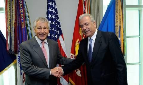 Συνάντηση Σαμαρά, Αβραμόπουλου με τον αρχηγό των Ε.Δ. των ΗΠΑ