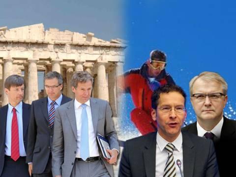 Στην Αθήνα η τρόικα – Για... σκι οι Ευρωπαίοι
