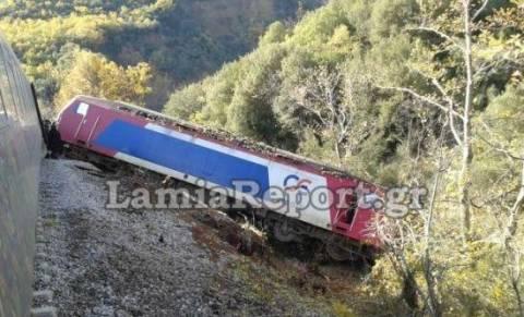 Φθιώτιδα: Οι πρώτες εικόνες από τον εκτροχιασμό του τρένου (pics+vid)