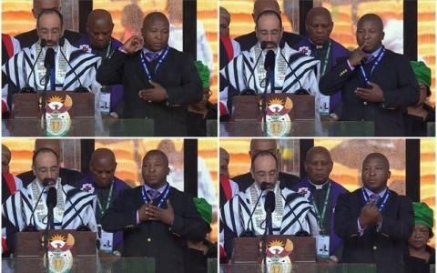 Ν. Αφρική: Επίσημη απολογία της κυβέρνησης για τον «ανίδεο» διερμηνέα