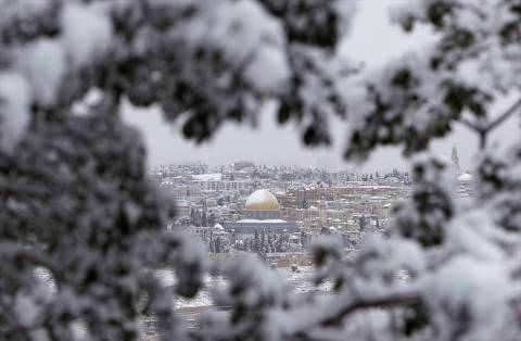 Ισραήλ: Προβλήματα στην Ιερουσαλήμ από τη σφοδρή χιονόπτωση