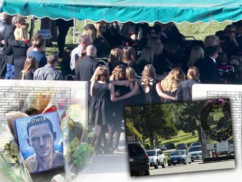 Συγγενείς και φίλοι είπαν το τελευταίο αντίο στον Paul Walker