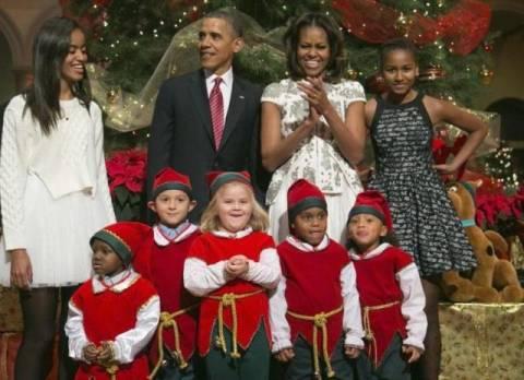 Σε φιλανθρωπική συναυλία η οικογένεια Ομπάμα