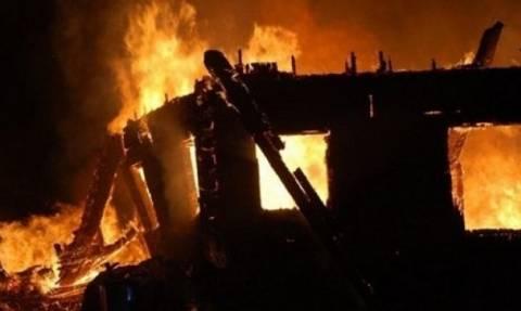 Καταστράφηκε το σπίτι ηλικιωμένων από φωτιά που ξέσπασε από τζάκι