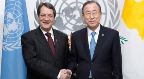 Για τις θέσεις της Κύπρου ενημέρωσε ο Αναστασιάδης τον Μπαν Γκι–Μουν