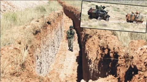 Η Τουρκία άρχισε τη δημιουργία τάφρου στα σύνορα με Συρία
