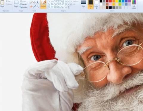 Απίθανος Άγιος Βασίλης, μέσα από τη ζωγραφική των Windows! (βίντεο)