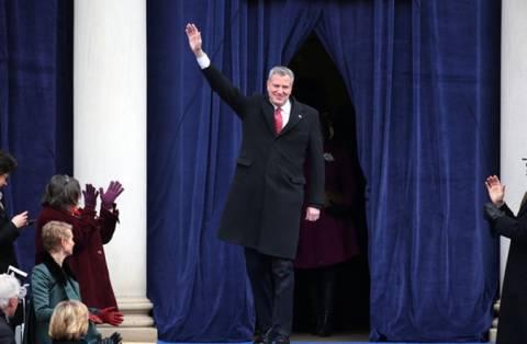 Ορκίστηκε ο νέος Δήμαρχος της Νέας Υόρκης Μπιλ ντε Μπλάζιο (pics)